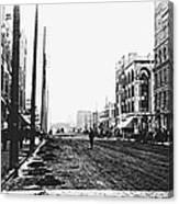 Downtown Dirt Spokane C. 1895 Canvas Print