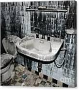Dirty Bathroom Canvas Print