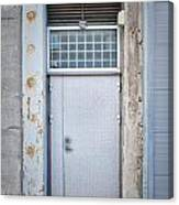 Dirty Metal Door Canvas Print