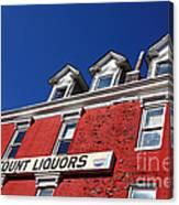 Discount Liquor Store Canvas Print