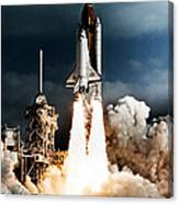 Discovery Hubble Launch Sts-31 Canvas Print