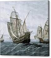 Discovery Of America 1492. The Caravels Canvas Print