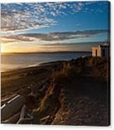 Discovery Park Lighthouse Sunset Canvas Print