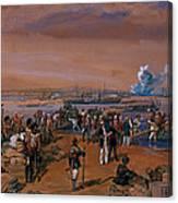 Disembarkation - Kerch, 24 May 1855 Canvas Print