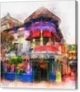 Disney Clothiers Main Street Disneyland Photo Art 01 Canvas Print