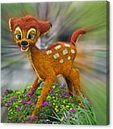 Disney Floral Bambi Canvas Print