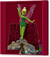 Disney Floral Tinker Bell 01 Canvas Print