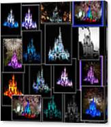 Disney Magic Kingdom Castle Collage Canvas Print