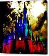 Disney Night Fireworks Canvas Print