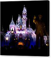 Disneyland Christmas Castle Canvas Print