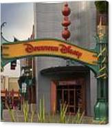 Disneyland Downtown Disney Signage 03 Canvas Print