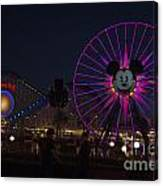 Disneyland Ferris Wheel At Dark Canvas Print