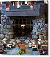 Disneyland Grand Californian Hotel Fireplace 01 Canvas Print