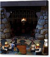Disneyland Grand Californian Hotel Fireplace 02 Canvas Print