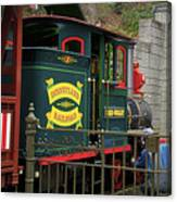 Disneyland Rr Oiling Green Engine 3 Canvas Print