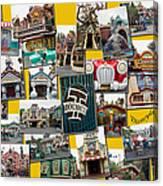 Disneyland Toontown Yellow Collage Canvas Print