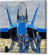 Display Debrief- Blue Angels Canvas Print