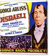 Disraeli, George Arliss On Title Card Canvas Print