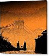 Distant Bridge Canvas Print