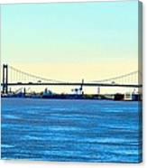 Distant Bridges Canvas Print