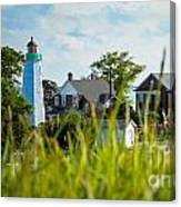 Distant Light House Canvas Print