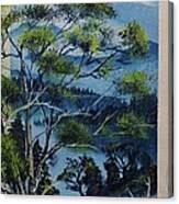 Distant Mountains Lake Canvas Print