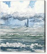 Distant Rain Canvas Print