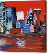 Distorted Dallas Skyline Canvas Print