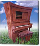 Distorted Upright Piano 2 Canvas Print