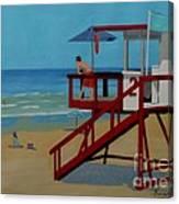 Distracted Lifeguard Canvas Print