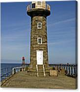 Disused East Pier Lighthouse - Whitby Canvas Print