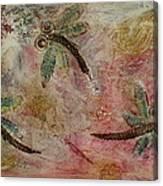 Rustic Dragonflies Pinks Canvas Print