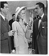 Dive Bomber, From Left, Fred Macmurray Canvas Print