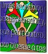 Diversity Tree Canvas Print