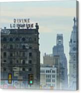 Divine Lorraine And City Hall - Philadelphia Canvas Print