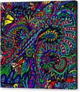 Diving The Deep Blue Canvas Print