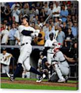 Divisional Round - Cleveland Indians v New York Yankees - Game Four Canvas Print
