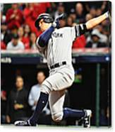 Divisional Round - New York Yankees v Cleveland Indians - Game Five Canvas Print