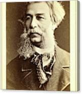 Dmitri I Vasilevich Grigorovich, Head-and-shoulders Portrait Canvas Print