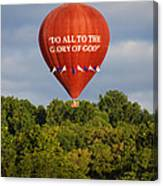Do All To The Glory Of God Balloon Canvas Print