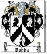 Dobbs Coat Of Arms Irish Canvas Print