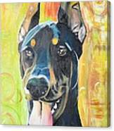 Doberman Canvas Print