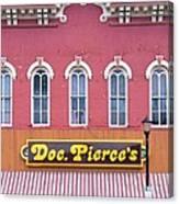 Doc Pierces Restaurant And Saloon Building Detail Canvas Print