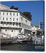 Dock At Alcatraz Island Canvas Print