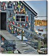 Dock House In Maine Canvas Print