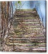 Dock In The Glades Canvas Print
