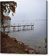 Dock On A Lake In Autumn Canvas Print