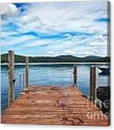 Dock On Summer Lake Canvas Print