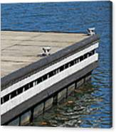 Dock On The Lake Canvas Print