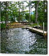 Dock Side Camping Canvas Print
